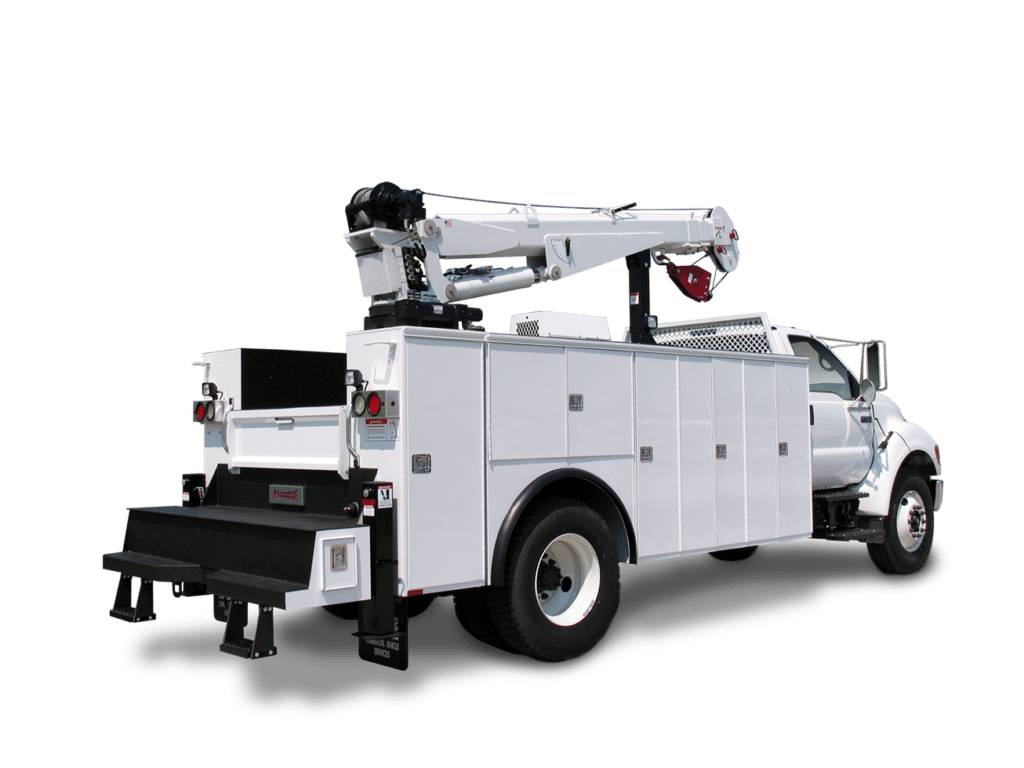 white mechanic truck 3D rendering